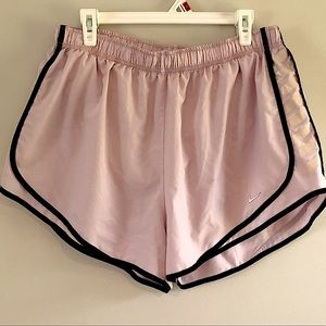 Nike light pink and black athletic running shorts XXL